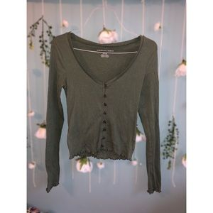 Olive Green Crop